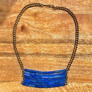 Anthropologie Free People Blue Raw Stone necklace